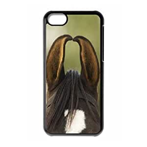 Zachcolo Horse IPhone 5C Cases Horse Ears for Teen Girls Protective, Protective Case for Iphone 5, [Black]