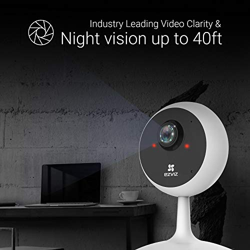 EZVIZ Indoor Security Camera 1080P WiFi Baby Monitor, Smart Motion Detection, Two-Way Audio, 40ft Night Vision, Works with Alexa & Google Assistant(C1C)