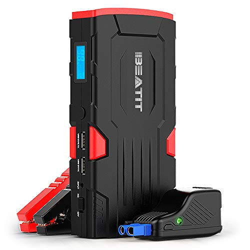 (Beatit BT-D11 800A Peak 18000mAh 12V Portable Car Jump Starter (up to 7.5L Gas Or 5.5L Diesel) with Smart Jumper Cables Auto Battery Booster Power Pack)