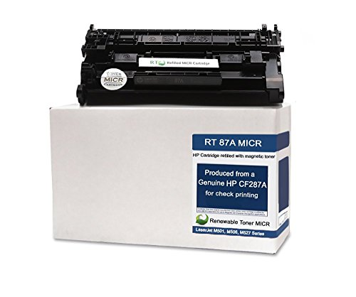 Renewable Toner Modified MICR Toner Cartridge Replacement 87A CF287A for Laserjet Enterprise M501 M506 M527