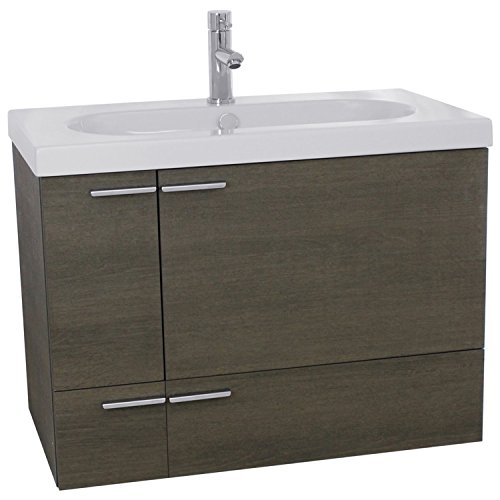 ACF ANS354 New Space Bathroom Vanity with Fitted Ceramic Sink Wall Mounted, 31