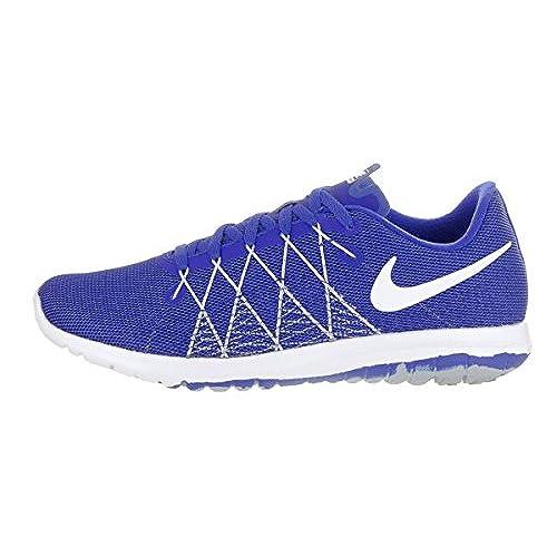 Nike Nike Boys  Grade School Nike Flex Fury 2 Running Shoes Racer Blue White 5f0f6a066b2b