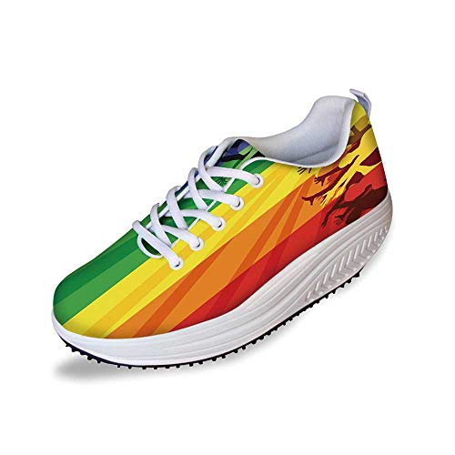 Pride Decorations Stylish Shake Shoes,People Celebrating International Day for LGBT Community Colorful -