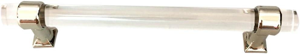 LOVIVER Acryl T/ür Pull Knob Schubladenschrank Schrank Griff Hardware 128mm