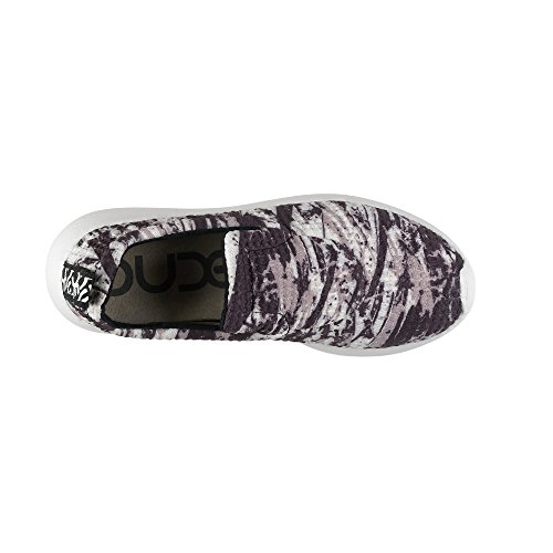Dude Shoes Women's Chloe Ink Slip On White, Black & Multi Colo