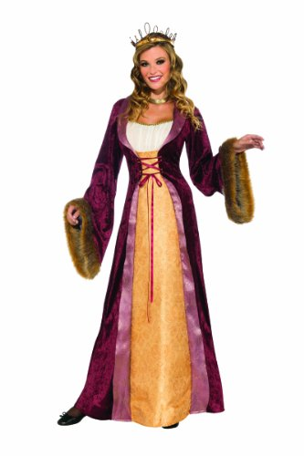 Adult Costumes Renaissance Womens Queen (Rubie's Costume Deluxe Milady Of The Castle Renaissance Dress, Multicolor,)