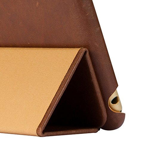 Jisoncase iPad Mini 4 Case, Leather Ultra Slim Smart-shell Stand Cover Case With Auto Wake/Sleep for Apple iPad Mini 4 (JS-IM4-01A) (Vintage Brown) by Jisoncase (Image #8)