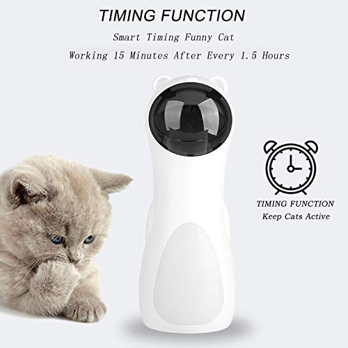 EliveSpm Cat Laser Toy-Automatic Rotating Lazer Pointer with 5 Stage Rotating Projection Angle and 3 Speed Modes, Interactive Chasing Toys for Cats&Dogs 5