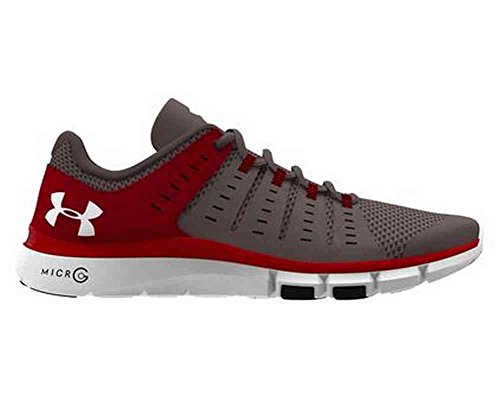 Under Armour Micro G Limitless Mens TR2 Training Shoe 1284864 (Steel/Red 8)