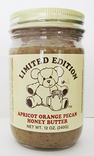 Apricot Orange Honey - Limited Edition Apricot Orange Pecan Honey Butter - 12 Ounce