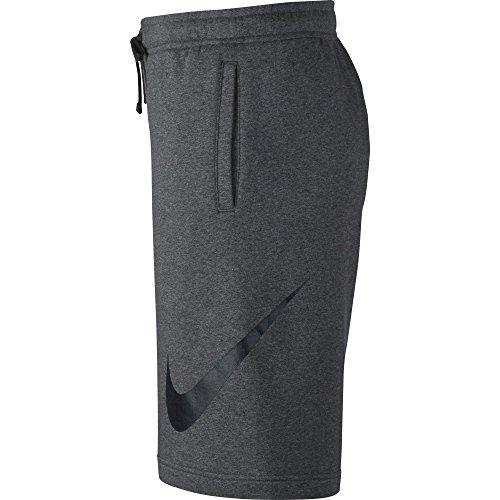 Nike FLC court NSW black homme Club Pantalon noir Exp heathr charcoal gris r5rqxX