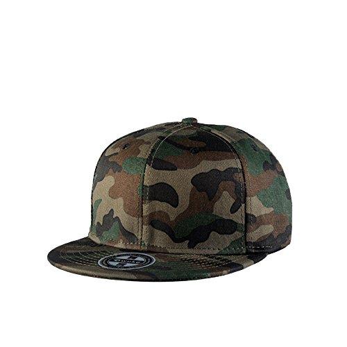 FayTop Unisex Camouflage Baseball Cap,Classic Army Camo Adjustable Snapback Flat Bill Brim Trucker Hat ()