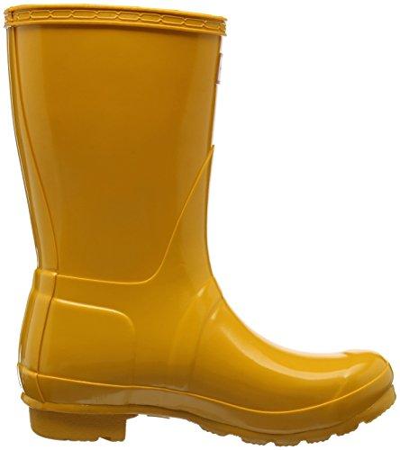 Jager Dames Regenlaarzen Rubberen Laarzen Lage, Donkere Leisteen Geel (geel / Ryl)