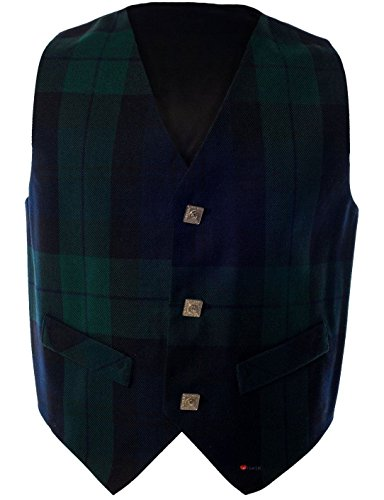 Boys Waistcoat, Silk Back Adjustable buckle Black Watch Tartan 1 year