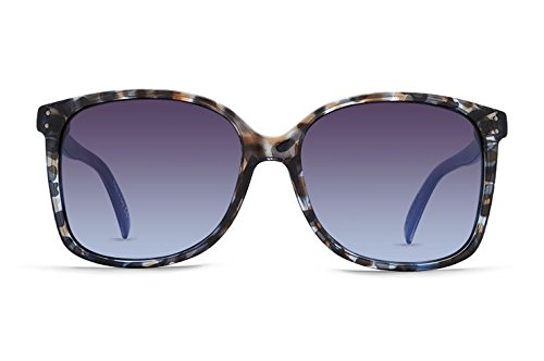 VonZipper Womens Castaway Sunglasses, Navy TC Crystal w/Blue - Sunglasses Cambridge