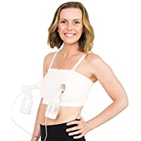 Simple Wishes Hands-Free Breastpump Bra, Pink, X-Small-Large