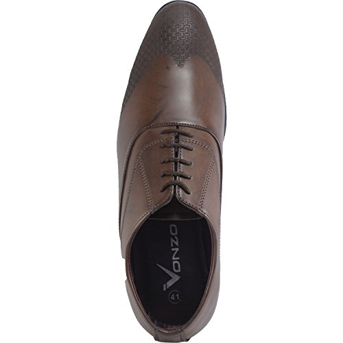 Vonzo Men's Casual Toe Pointed Up Business Dress Wedding Formal Lace Oxfords Shoes rrZUdwq