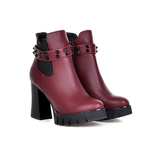 1TO9 Womens Fashion Zipper Pointed-Toe Urethane Boots Datered XalTlM1