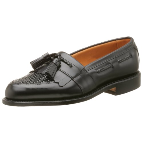 Allen Edmonds Mens Cody Tassel Loafer,Black/Black,9 B