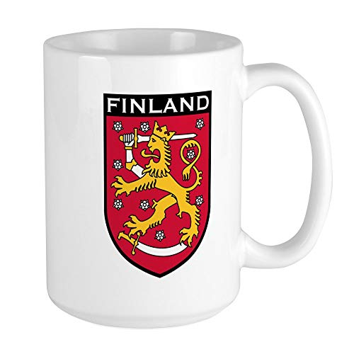 CafePress Finland Coat Of Arms Large Mug Coffee Mug, Large 15 oz. White Coffee ()