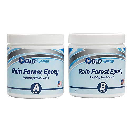(  Rain Forest Epoxy - Commercial Grade Crystal Clear Epoxy Resin for Bar Tops & Tables - 16 oz Kit.)