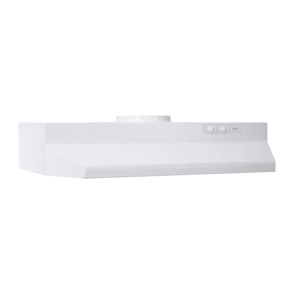 "Broan 422401 Range Hood Insert with Light, Exhaust Fan for Under Cabinet, White, 6.0 Sones, 190 CFM, 24"""