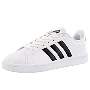 adidas Women's Shoes | Cloudfoam Advantage Sneakers, White/Black/White, (7 M US)