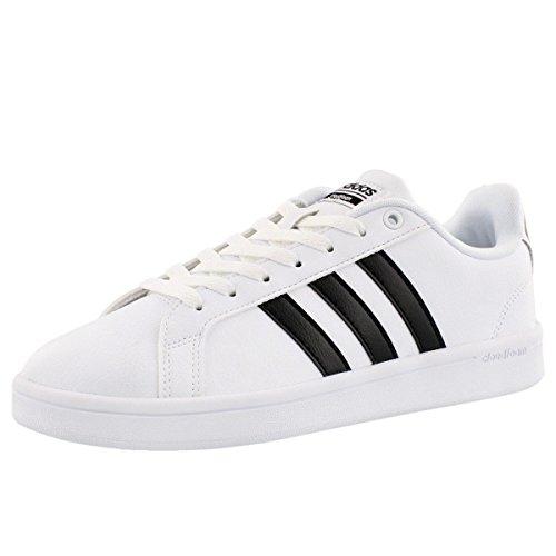 adidas Women's Shoes | Cloudfoam Advantage Sneakers, White/Black/White, (5 M US)