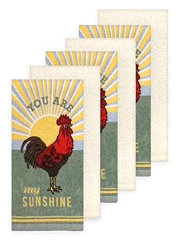 Loving Home You are My Sunshine Red Rooster Dishtowel Set of 6 Tea Towels ()