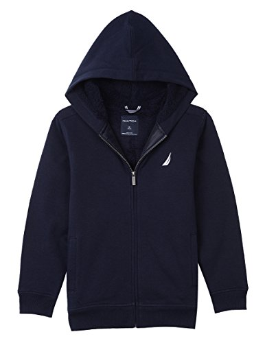 - Nautica Boy's Big Expedition Sherpa Fleece Full Zip Hoodie, Sport Navy, Large (14/16)