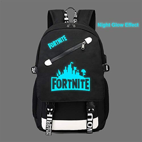 Luminous Casual Backpack For_tnite Boy&Girl Funny Custom Luminous School Bag Unisex Luminous Laptop Backpacks Fan Bag With USB Charging Port And Pencil Case by Ongjiadx (Image #1)
