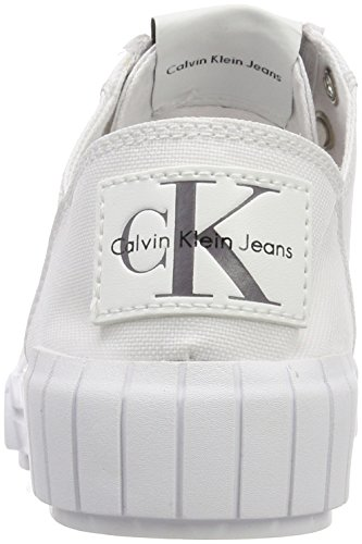 Calvin Nylon Zapatillas 000 wht Mujer Klein Bianca Blanco Para rSqTZrcw