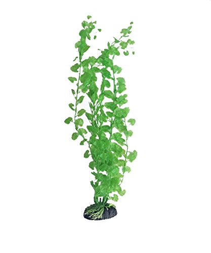 Blue Spotted 10 Inch Cardamine Artificial Plant for Tropical Fish Aquariums & Terrariums. Great For Angel Fish & -