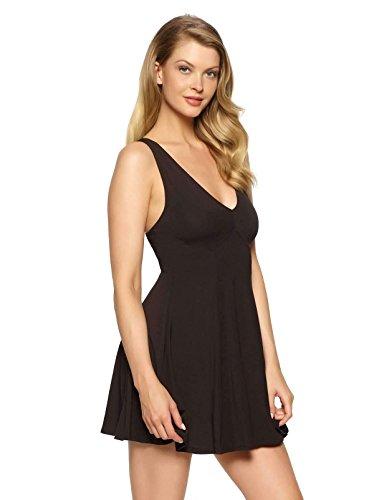 Felina Dress - Felina Women's Loungewear Aurora Sleevelss Chemise with Back Ring, Black, L
