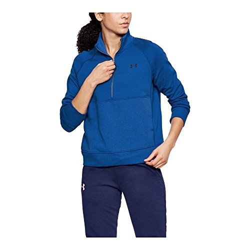 Under Armour UA French Terry ½ Zip SM LAPIS (Terry Pullover Top)