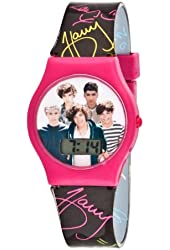 1D One Direction Pink and Black LCD Watch