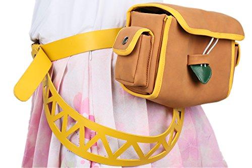 Princess Cosplay Zelda Belt Bag Camel PU leather Costume Accessories Halloween Pluscraft -