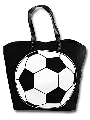 Knitpopshop Soccer Mom Canvas Tote Bag Handbag Large Oversized Gifts