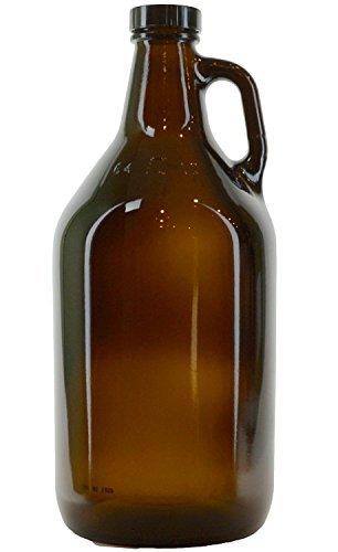 True Fabrications 1/2 gal Amber Beer Growler, Reusable, Has Uv Protection, Brown (Pack of 3)