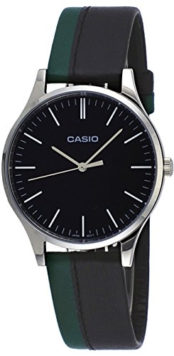 Amazon.com: Casio MTP-E133L-1E Mens Standard Minimalist Leather Band Black Dial Watch: Watches
