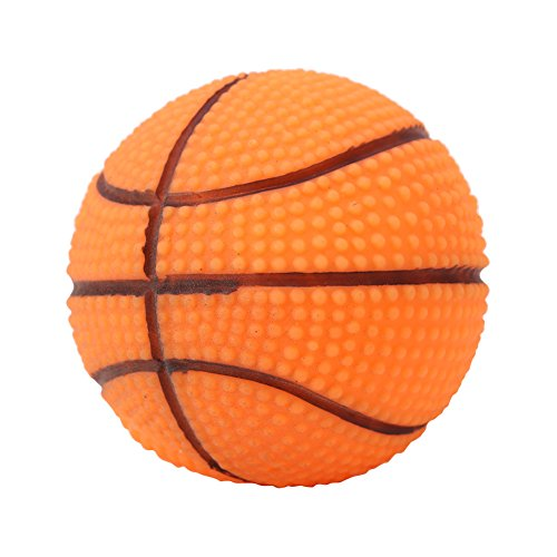 Fdit Pet Training Chewing Sound Ball Squeaky Playing Ball Toy Dog Puppy Training Sound Toy for Dog Pet(Basketball)