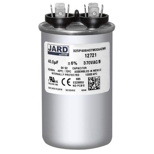 40 uf MFD 370 VAC ROUND Capacitor 12721 Replaces C340 C340R 97F9614BX 97F9614