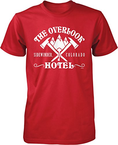(NOFO Clothing Co Overlook Hotel, Sidewinder Colorado Men's T-Shirt, L Red)