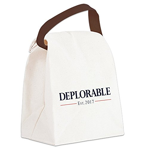 CafePress - Deplorable Est 2017 - Canvas Lunch Bag with Strap Handle -