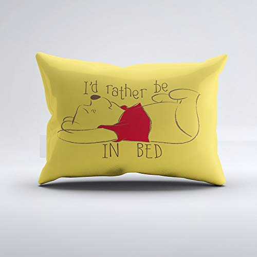 Zippered Pillow Covers Pillowcases One Side 12x24 Inch Pooh | Id Rather Be in Bed Pillow Cases Cushion Cover for Home Sofa Bedding