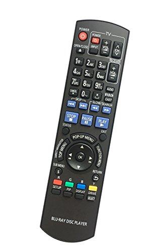 Price comparison product image Replaced Remote Control Compatible for Panasonic DMP-BDT350 N2QAYB000378 DMPBD75GN DMP-BD60 DMPBD80 DMP-BD75 BD Blu-Ray Disc DVD Players