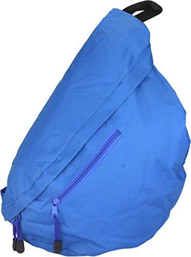 Bolso bandolera de hombro triángulo mochila en rojo azul cobalto