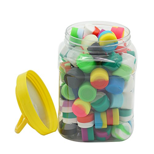 680352d9419e YHSWE 3ml Silicone Dab Container with Box Non-Stick Food Grade Jar Assorted  Color(Pack of 100)