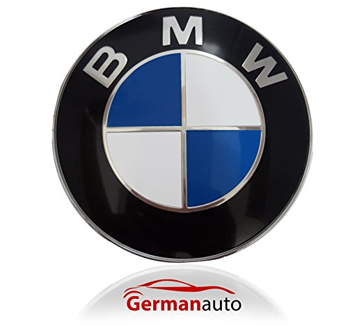 BMW Emblem Logo Replacement for Hood/Trunk 82mm for ALL Models BMW E30 E36 E46 E34 E39 E60 E65 E38 X3 X5 X6 3 4 5 6 7 8 (Bmw Emblem E60)
