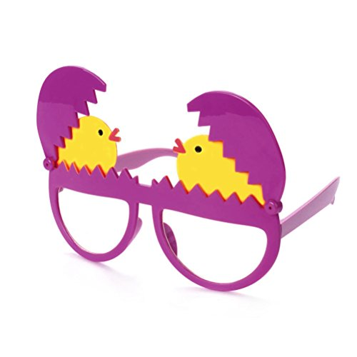BESTOYARD Easter Glasses Costume Broken Eggshell Chick Funny Glasses Decoration Accessories Novelty Sunglasses Party Supplies for Easter Party - Sunglasses With Egg